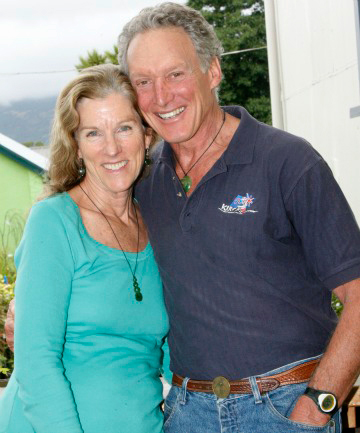 Diane and Landon in Nelson Mail, New Zealand